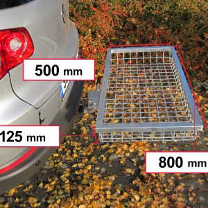 Tow Hitch Cargo Rack - Stainless Steel 800 x 500 x 125 mm