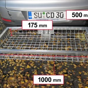 Hitch Mounted Cargo Carrier - Galvanised 1000 x 500 x 175 mm