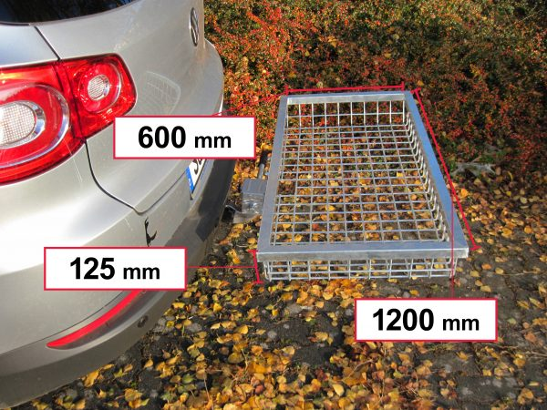 Tow Hitch Cargo Rack - Stainless Steel 1200 x 600 x 125 mm [101472]